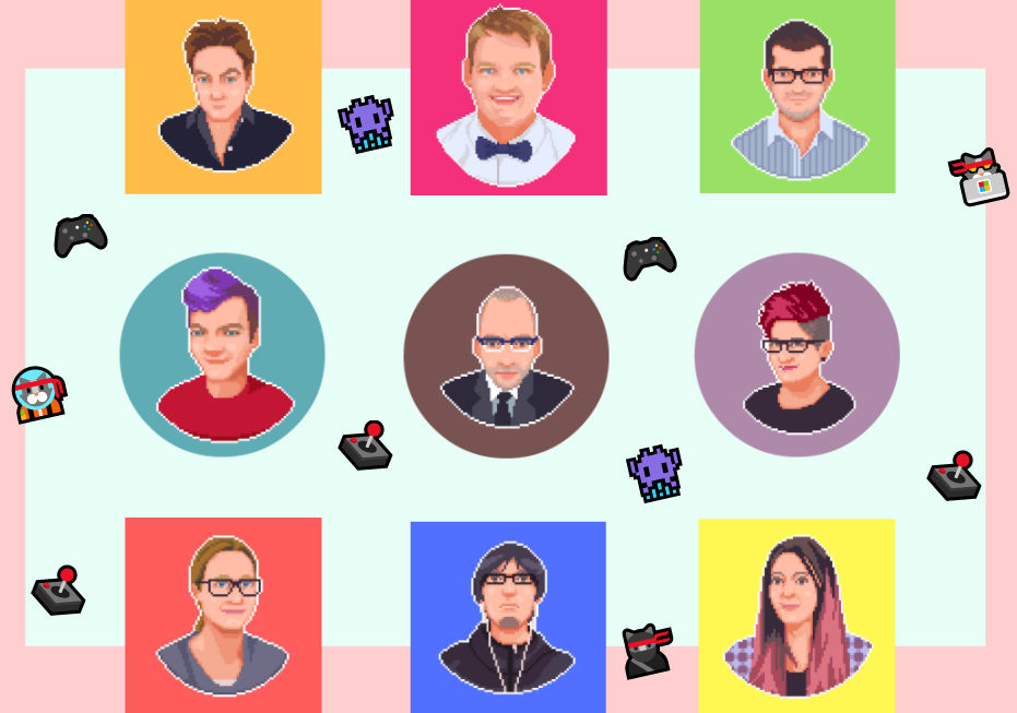 A team of video game translators and localization experts (game translatio, game localization, PS4, Xbox, iOS, Android, Steam, Switch) with emoji